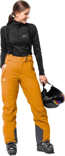 Jack Wolfskin Exolight Pants Women citrine yellow